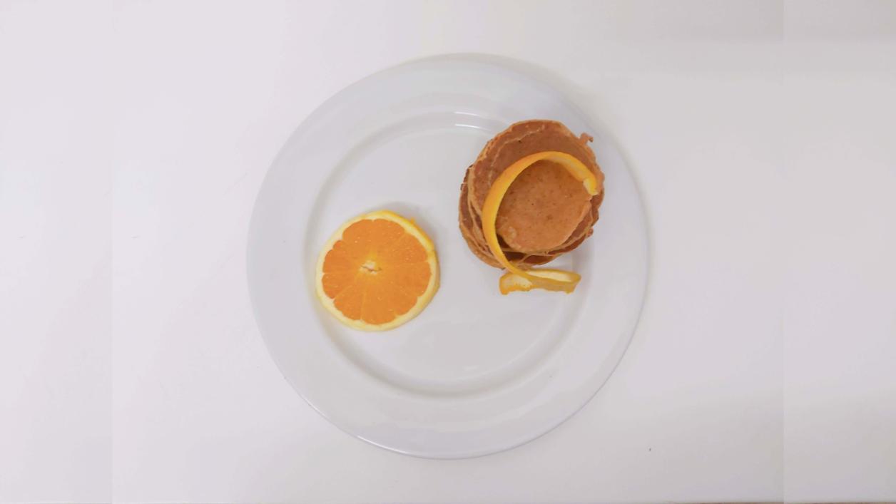Panquecas integrais de laranja